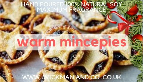 Warm Mincepies Soy Wax Candle